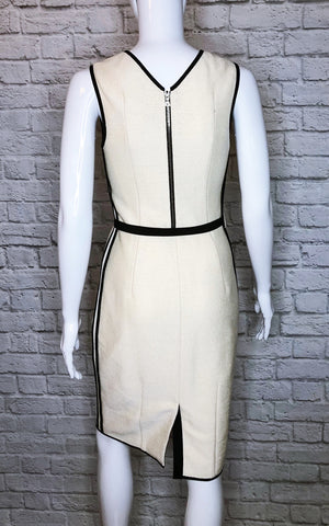 Lida Baday Colorblock Belted Sheath Dress