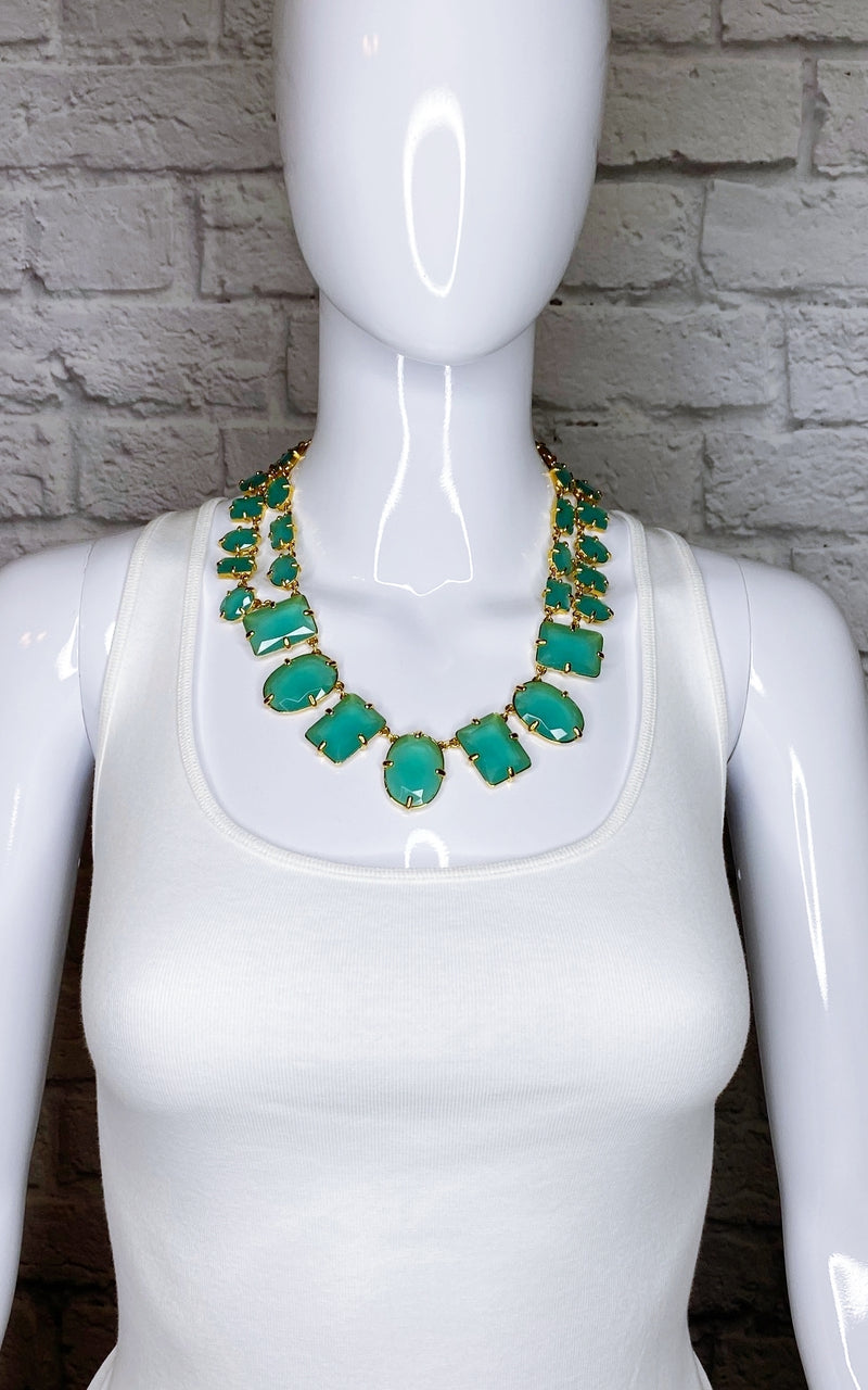 Kate Spade New York Green Faceted Resin Collar Necklace