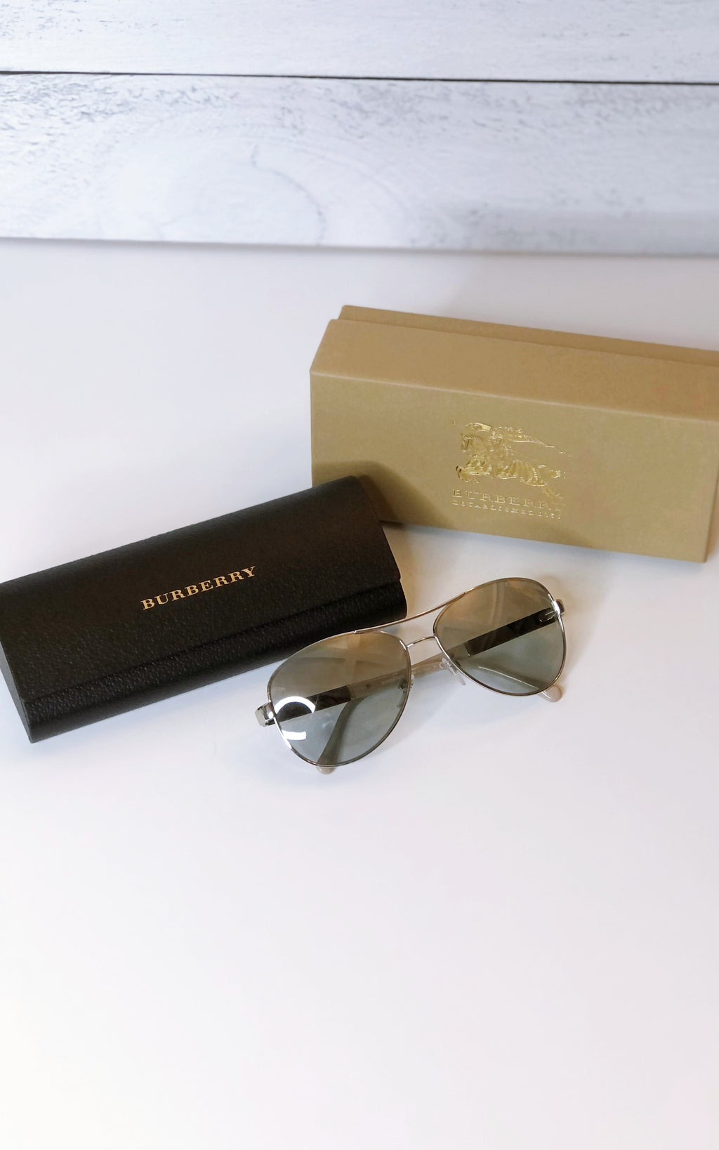 Burberry Unisex Aviator Sunglasses