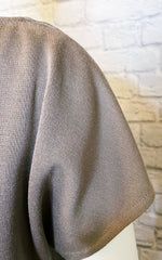 St. John Milano Wool-Blend Cowl-Neck Top