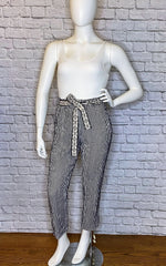 Dorothee Schumacher Belted Striped Cotton-Linen Blend Resort Pants