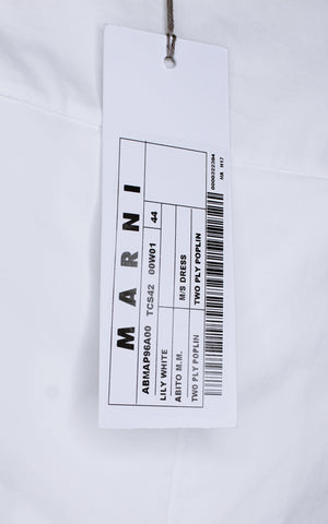 Marni White Cotton-Poplin Shift Dress