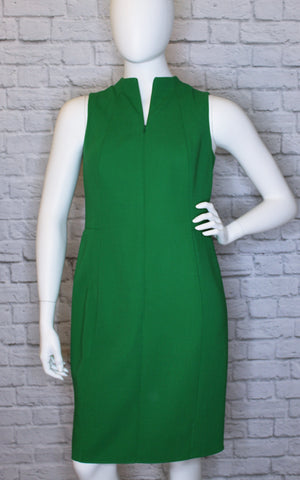 Akris Tailored Green Wool Pencil Dress