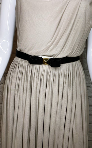 Gucci Pleated Belted One-Shoulder Cocktail Dress