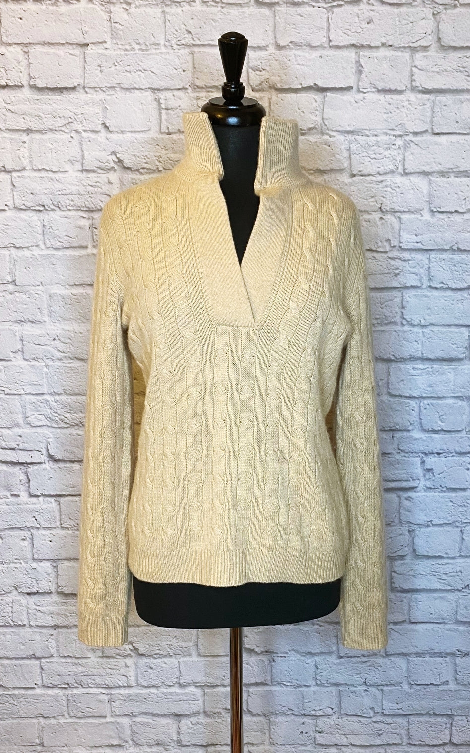 Ralph Lauren Black Label 'Oprah' Cable Cashmere Sweater