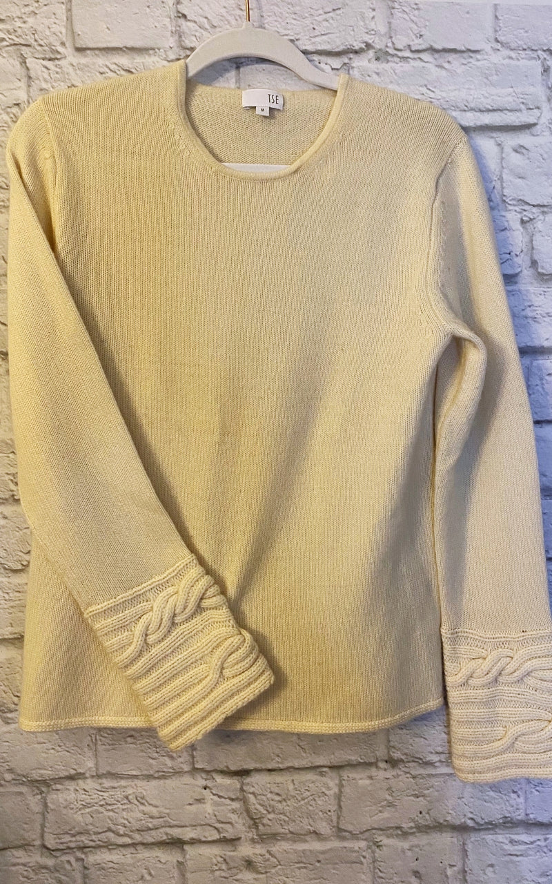 TSE Cream Cashmere Sweater