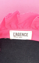 L'Agence Pink Silk Sleeveless Blouse