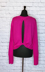 A.L.C. Hot Pink Wool Scoop Neck Sweater