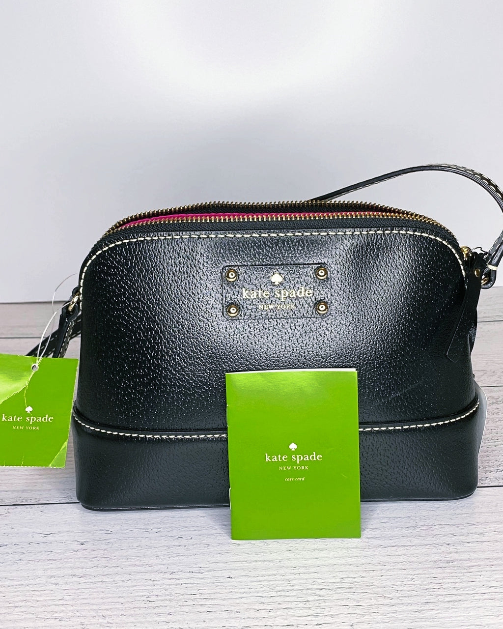 Kate Spade Wellesley 'Hanna' Black Pebble Leather Crossbody Bag