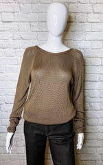 Vanessa Bruno Deep Brown Low-Back Sweater