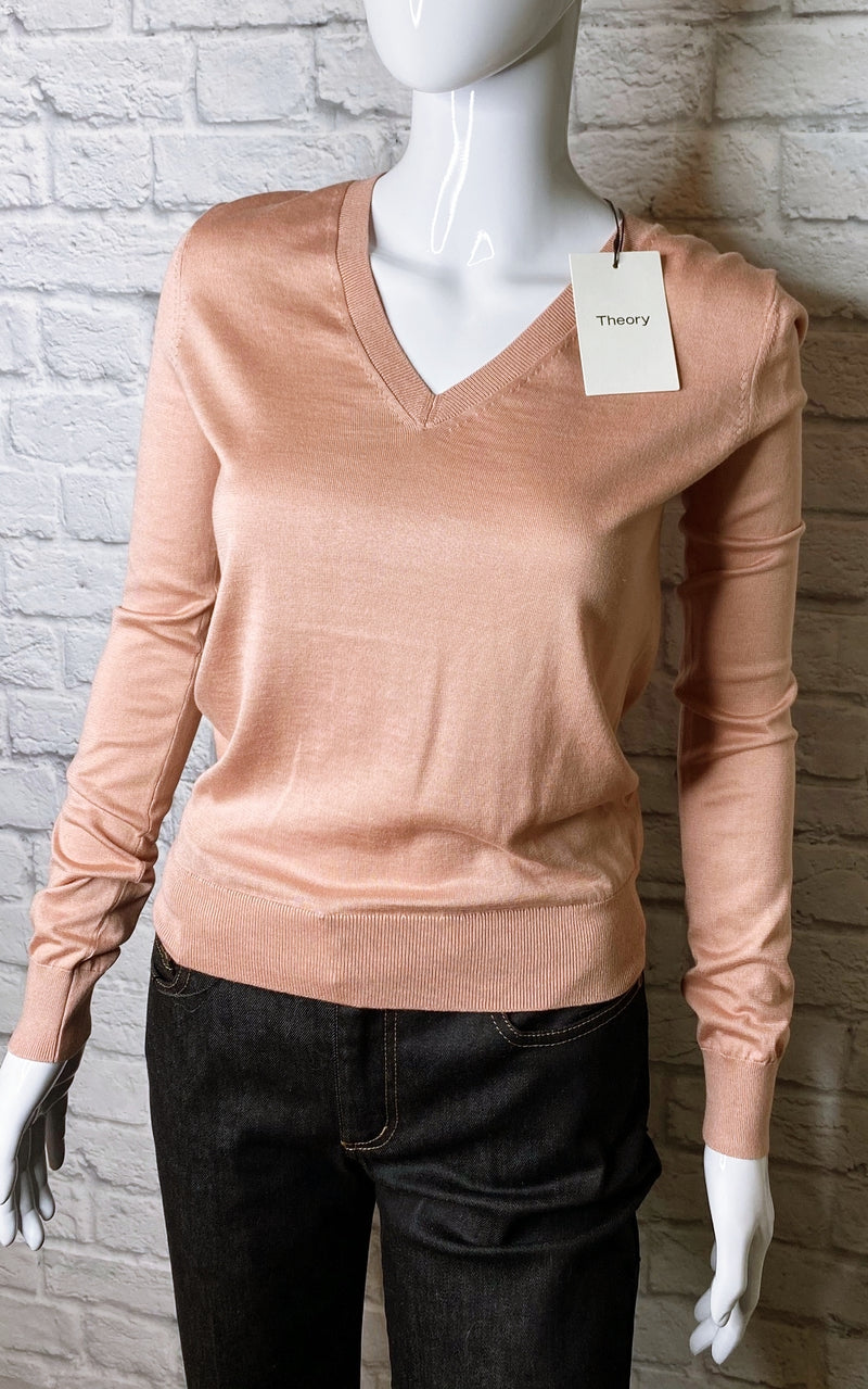 Theory Rose Silk-Blend Sweater