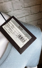 Prada Vintage Blue-Gray Cashmere/Silk Lightweight Sweater