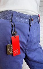 CH Deep Blue Pants with Embellished Waist