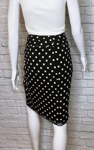 Dolce & Gabbana Polka Dot Silk and Lace Skirt