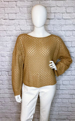 Vanessa Bruno Camel Angora-Wool Sweater