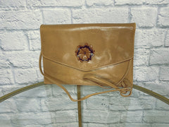 Fendi Vintage 1980s Whiskey Leather Clutch