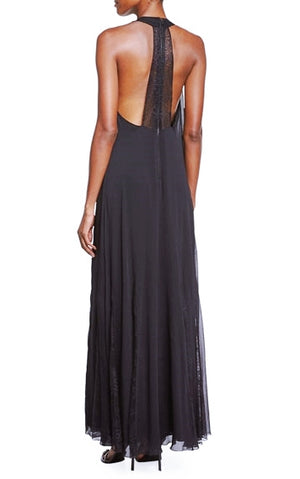 Alice + Olivia 'RAVI' Beaded Neck Maxi Dress