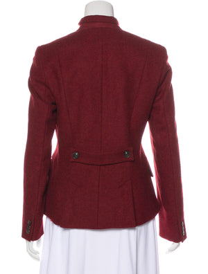 Weekend Max Mara Virgin Military Collar Wool Blazer