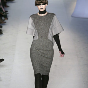 Yves Saint Laurent Wool High-Low Runway Crop