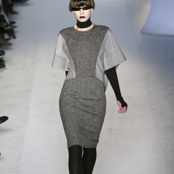 Yves Saint Laurent Wool High-Low Crop - AS SEEN IN PARIS FASHION WEEK
