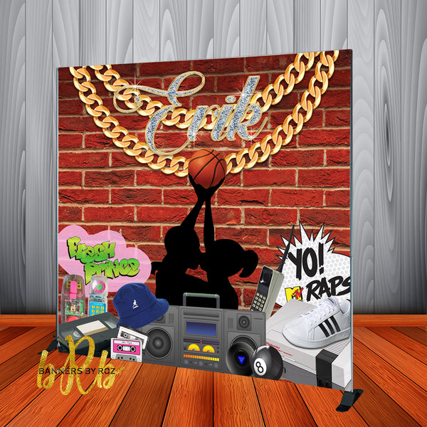 90's Theme Love & Basketball Hip Hop Backdrop - Designed, Printed & Shipped!