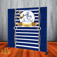 Ahoy It's a Boy! Baby Shower Backdrop Personalized Step & Repeat - Designed, Printed & Shipped!