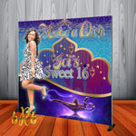 Arabian Nights theme Backdrop for Sweet 16 Birthday, Weddings, Quinceanera or any Special Event Designed, Printed & Shipped!