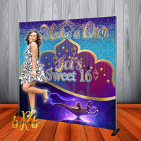 Arabian Nights theme Backdrop for Sweet 16 Birthday, Weddings, Quinceanera Printed & Shipped!