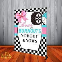 Bows or Burnouts Backdrop Personalized Step & Repeat - Designed, Printed & Shipped!