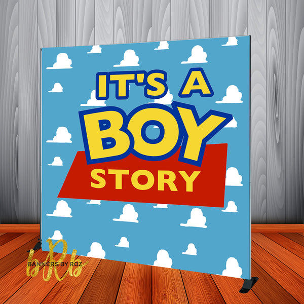 Boy Story - Toy Story Baby Shower Backdrop Personalized Step & Repeat - Designed, Printed & Shipped!