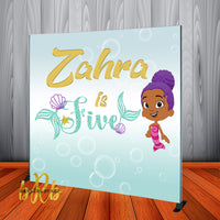 Bubble Guppies Mermaid Zooli - Backdrop Personalized Step & Repeat - Designed, Printed & Shipped!