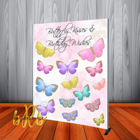 Butterfly Kisses Backdrop - Step & Repeat - Designed, Printed & Shipped!