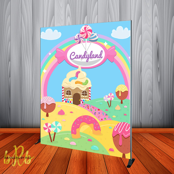 Candy Land Backdrop Personalized Step & Repeat - Designed, Printed & Shipped!