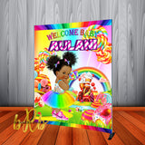 Candy Land Baby Backdrop Personalized Step & Repeat - Designed, Printed & Shipped!