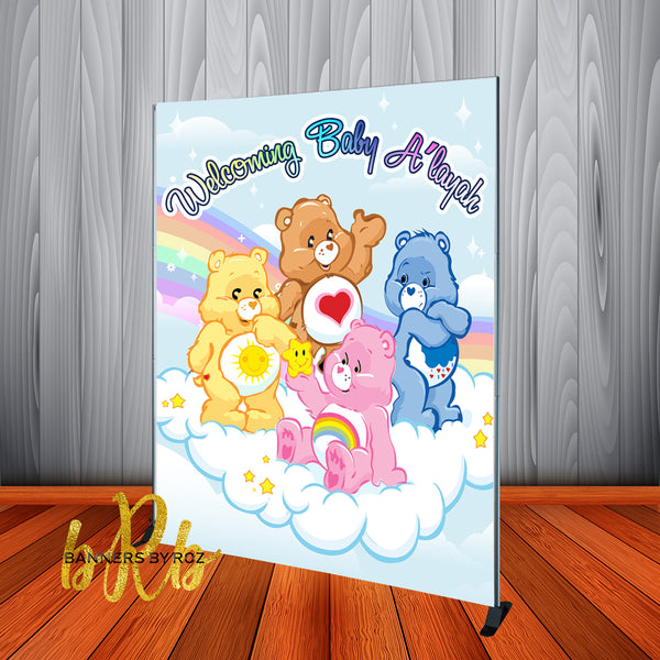 Care Bears Backdrop Personalized for Baby Shower or Birthdays - Designed, Printed & Shipped!