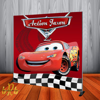 Pixar Cars Party Backdrop Personalized Step & Repeat - Designed, Printed & Shipped!