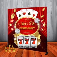 Casino Party Backdrop - Step & Repeat - Designed, Printed & Shipped!
