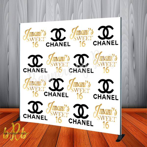 Chanel Inspired Backdrop - Step & Repeat - Designed, Printed & Shipped!