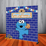 Cookie Monster Birthday Party  Backdrop Personalized Step & Repeat - Designed, Printed & Shipped!