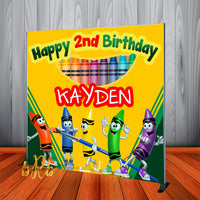 Crayola Crayons Backdrop Personalized Step & Repeat - Designed, Printed & Shipped!