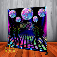 Disco Party Backdrop - 70's Old School Step & Repeat - Designed, Printed & Shipped!