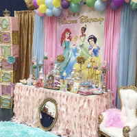 Disney Princess Party Backdrop Personalized Step & Repeat - Designed, Printed & Shipped!