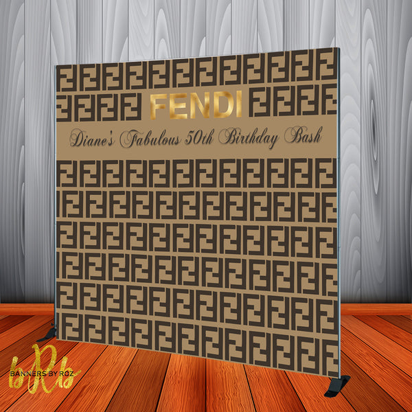 Fendi Inspired Backdrop - Step & Repeat - Designed, Printed & Shipped!