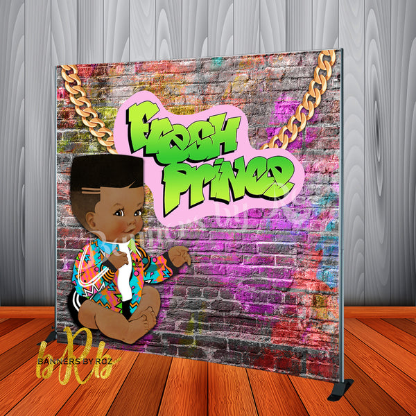 Fresh Prince Baby Shower, Birthday Backdrop Personalized - Designed, Printed & Shipped!