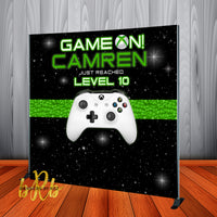 Game On Video Game theme Birthday Backdrop Personalized - Designed, Printed & Shipped!