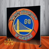 Golden State Warriors Basketball Backdrop Personalized Step & Repeat - Designed, Printed & Shipped!