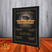To God be the Glory Graduation Backdrop - Grad Party Class of 2021 - Step & Repeat -Printed & Shipped!