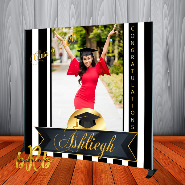 Graduation Photo Backdrop Personalized - Step & Repeat - Designed, Printed & Shipped!