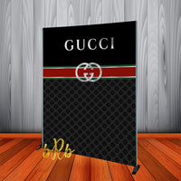 Gucci inspired Backdrop Silver - Step & Repeat - Designed, Printed & Shipped!