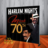 Harlem Nights Backdrop - Step & Repeat - Designed, Printed & Shipped!